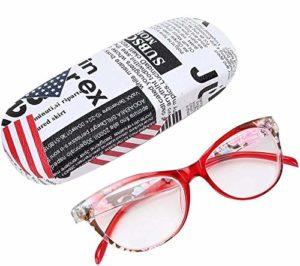Lunettes de lecture unisexes, lunettes de lecture à lentilles claires légères Lunettes de lecture unisexes à la mode pour femmes et hommes(+200)