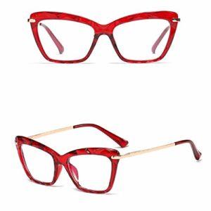 Toule lunettes cadre pour femmes cadre lunettes pour chat cadre lunettes optiques accessoires de lunettes. Cadre rouge.