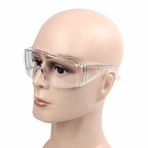 1 paire de lunettes de sécurité anti-sable, anti-virus, anti-salive multifonctionnelles et anti-virus.