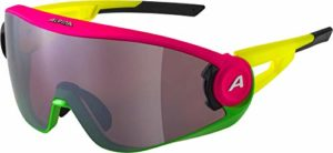 ALPINA 5W1NG Masque de Ski Women's, Pink-Green-Yellow, One Size