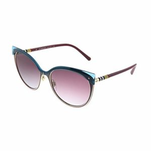 BURBERRY 0BE3096 126590 55, Montures de Lunettes Femme, Rouge (Red/Light Gold/Greygradientviolet)