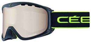 Cébé Ridge Masque de Ski Mixte Adulte, Noir Lime Mat, L