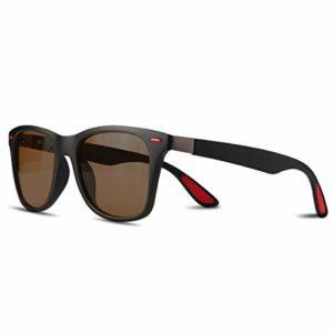 CHEREEKI Lunettes de soleil Polarisées, Lunettes de soleil mode pour Hommes et Femmes Lunettes de Conduite 100% UV400 Protection (marron)