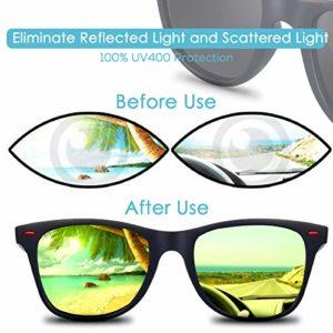CHEREEKI Lunettes de soleil Polarisées, Lunettes de soleil mode pour Hommes et Femmes Lunettes de Conduite 100% UV400 Protection (Yellow)