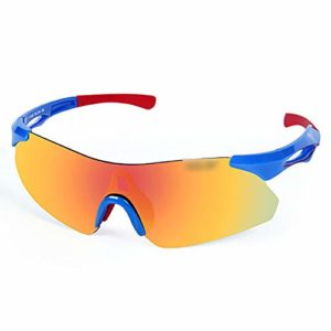 EMYUU Lunettes de Cyclisme, Protection UV, Montures TR90, Verres HD, avec Montures Myopia, Neutre, Convient à Tous Les Sports de Plein air 01