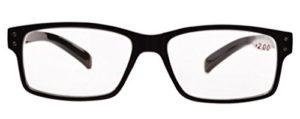 Eyekepper Lunettes sans grossissement pour hommes-5 Pack Lunettes à monture noire pour hommes,+1.50 Lunettes pour femmes