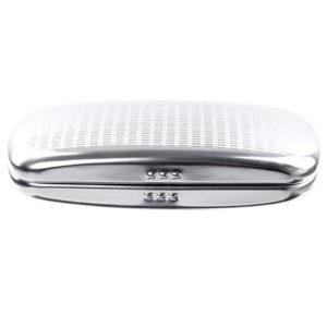 EZESO Glasees Étui de protection en aluminium pour lunettes de soleil – Argenté – taille unique