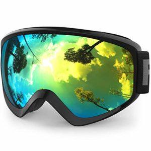 findway Masque de Ski Protection pour Enfant Lunette Ski Masque Ski OTG de Garçon ou Fille Anti-UV Antibuée Compatible avec Casque pour Ski Snowboard Autres Sports Hiver