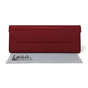 LAGO TERRA – Étui à lunettes – Femme – Rouge – Taille unique