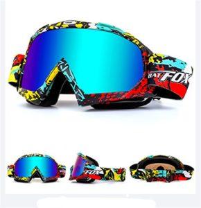 Lunettes de protection IHRKleid – Pour moto, snowboard, ski, dirt bike – Protection contre la poussière et le vent – Idéales pour sport d'hiver., Mehrfarbig