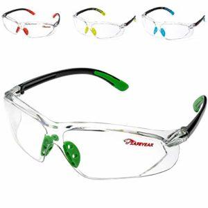 Lunettes de Protection Lunettes de sécurité – SAFEYEAR 003 avec lentilles Transparentes Anti-buée et Anti-Rayures
