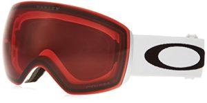 Oakley Flight Deck Masque de Ski Mixte Adulte, Matte White/Prizm Rose, EL. ADJUSTABLE