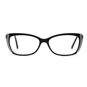 OCCI CHIARI Monture de lunettes lunettes de vue cadre femmes rectangle lunettes de soleil cadre élégant non-prescription lunettes claires Femme Medium