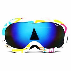 Reeamy-Home Masque de Ski Lunettes de Ski Anti-buée Snowboard Lunettes, UV400 Protection UV 100%, Lunettes for Les Hommes, Les Femmes du Vent et des Lunettes de Neige (Color : Blue, Size : Free Size)