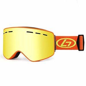 Reeamy-Home Masque de Ski Lunettes de Ski Snowboard Lunettes Anti-buée Protection UV Lunettes de Neige for Hommes Femmes Casque Compatible équitation Lunettes de Ski (Color : Green, Size : Free Size)