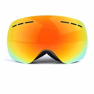 Reeamy-Home Masque de Ski Masque de Ski, Snowboard, Sports d'hiver et Motocyclisme – Anti-Brouillard et Casque Compatible – Fits Hommes, Femmes et Jeunes équitation Lunettes de Ski