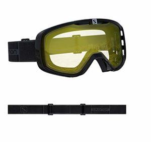 Salomon, Askium Access, Masque de ski unisexe, Noir/Low Light Yellow, L40845600