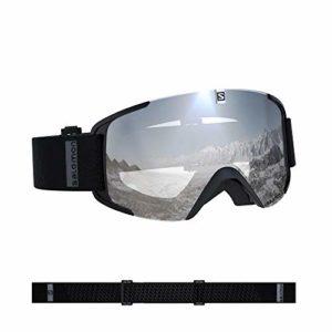 Salomon, Xview, Masque de ski unisexe, Noir/Universal Super White, L40844300
