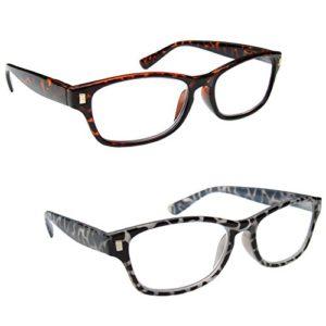 The Reading Glasses Lunettes de Lecture Marron Écaille & Noir Milky Lecteurs Valeur Set de 2 Hommes Femmes RR10-21 +2,50