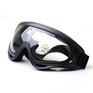 TININNA Professionnel Unisexe Masque et Lunettes de Moto Protection Des Yeux Anti-brouillard Anti- Vent Anti-Sable – Transparent – Taille libre