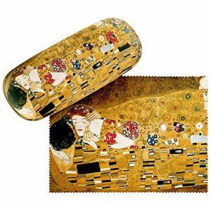 VON LILIENFELD Étui Lunettes Femme Motif Art Motif Art Gustav Klimt: Le Baiser