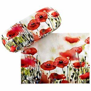 VON LILIENFELD Étui Lunettes Femme Motif Floral Coquelicots