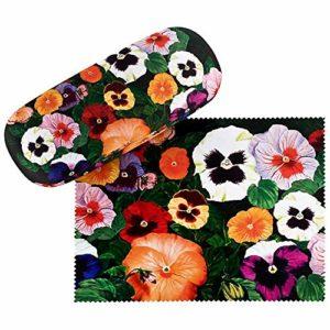 VON LILIENFELD Étui Lunettes Femme Motif Floral Pensées