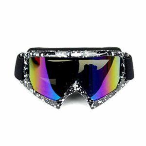 Woljay Lunettes de Protection Mototourisme Lunettes Masque de moto anti-UV Moto Cross VTT – Lentille teintée