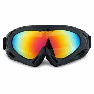 AEF Anti-Buée Lunettes Ski Masques Snowboard Motoneige Moto Lunettes Ski Goggles Protection Lunettes Lens Anti-Poussière UV Protection Coupe-Vent Hommes Femme,6