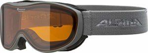Alpina Challenge 2.0 Masque de ski unisexe – Adulte, gris, taille unique
