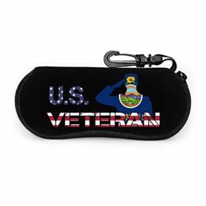 AOOEDM American Veterans Day Nouveau Mexique Drapeau Étui À Lunettes Étui À Lunettes Lunettes De Soleil Soft Case pour Hommes Femmes