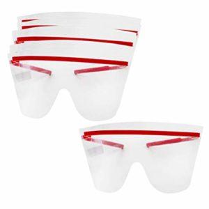 Artibetter Lot de 20 lunettes de sécurité jetables transparentes anti-buée et anti-poussière