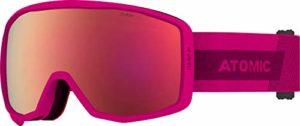 Atomic, Masque de Ski pour Enfants, Double écran cylindrique, Compatible avec des lunettes, Count Jr Cylindrique, Rose/Bleu, AN5106200