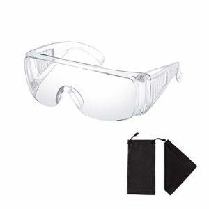 Clair Sécurité Lunettes Personnel Protecteur Équipement Transparent Adulte Sur des lunettes Des lunettes de protection Pour Construction, Laboratoire, Cours de chimie, avec Lunettes Sac