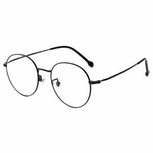 Cyxus Blocage de la lumière bleue [Lunettes anti-fatigue oculaire],Lunettes de lecture rétro à verres transparents, hommes/femmes (Noir-1)