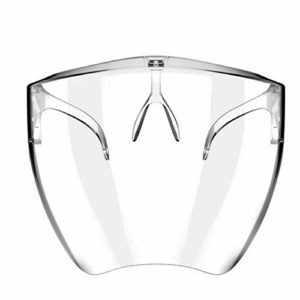 DDD123 Lunettes de sécurité Lunettes de Protection faciale, visière Transparente résistante à la salive, Vapeur d'huile, Masque Multifonctionnel Anti-buée crachant (L)