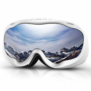 Deecreek Lunettes de Ski Anti-buée OTG pour Adultes, Jeunes et Jeunes neiges, Compatible avec Casque, White (VLT 23%)