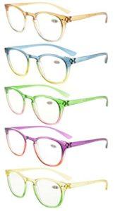 Eyekepper Lot de 5 Lunettes de vue pour femme Lunettes de lecture fashion (un pour chaque couleur +2.25)
