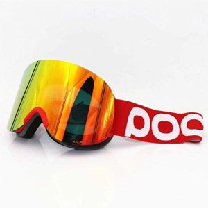 FANPING Lunettes de Ski Double lentille Couches Anti-Brouillard Grandes installations de Lunettes de Ski Masque Hommes Femmes Snowboard clarté Retina 4