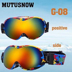 FANPING Lunettes de ski pour hommes et femmes petites lentilles professionnelles double UV400 anti-buée adulte lunettes de ski placage lunettes (couleur : G8)