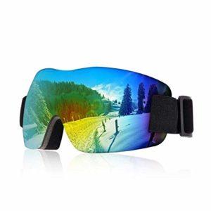 FANPING Snowboard Lunettes de ski de ski sport adulte anti-buée anti-ultraviolet double lentille sablonneuse lunettes hommes et femmes ski d'hiver