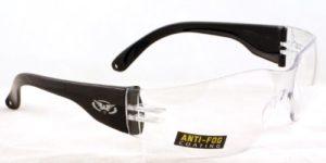 Global Vision clear wraparound antibuée cyclisme lunettes/lunettes de soleil uv400 complet avec pochette de rangement gratuit microfibre