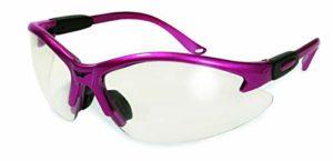 Global Vision lunettes de sécurité cougar, lentille claire, cadre rose chaud