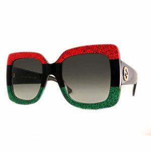 Gucci GG0083S 001 Montures de Lunettes, Rouge (Red/Grey), 55 Femme