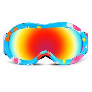 Hiver Masque Ski Protection Enfant 3 À 13 Ans Lunette Ski Masque Ski OTG Garçon Fille Anti-UV Antibuée Compatible Casque pour Ski Snowboard Autres Sports,9