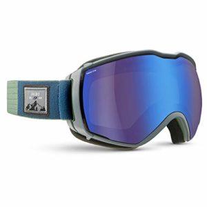 Julbo Aerospace Masque de Ski avec écran REACTIV Photochromique et polarisant pour Hommes, Vert/Gris, XL+