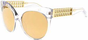 Linda Farrow Lunettes de Soleil 388 CLEAR YELLOW GOLD Clear Yellow Gold/Gold Mirror 59/19/138 femme