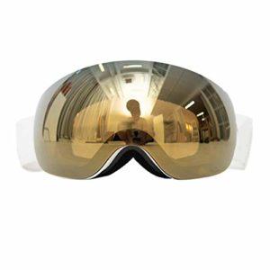 Lunettes Ski Magnétique Hommes Femmes Lentille Sphérique OTG Masque Ski Anti-Buée Protection UV400 Compatibles Casque Anti Éblouissement Lunettes Snowboard,3