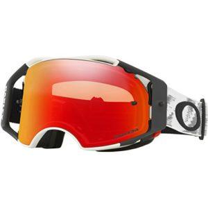 Masque Motocross Oakley Airbrake Matte Blanc-Prizm Torch (Default , Rouge)