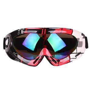 Masque Ski Enfant Lunettes Ski Enfant Garçon Fille Anti-UV Antibuée Compatible Casque Ski Snowboard Autres Sports Hiver,4